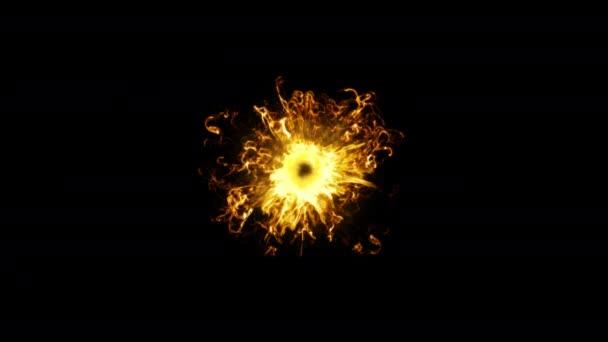 Pekelná ohnivá koule. Abstraktní hořící koule s žhnoucími plameny