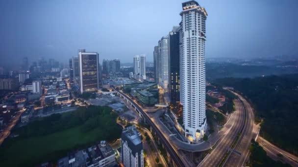 Sunrise at Kuala Lumpur city skyline. Zoom in