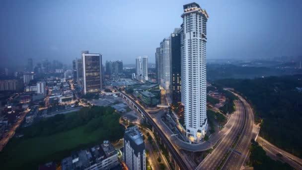 Sunrise at Kuala Lumpur city skyline.