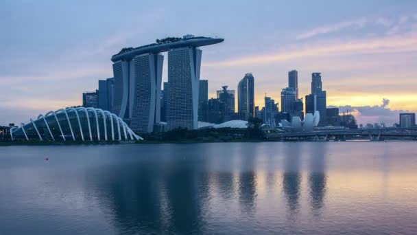 Time lapse day to night sunset at Singapore.