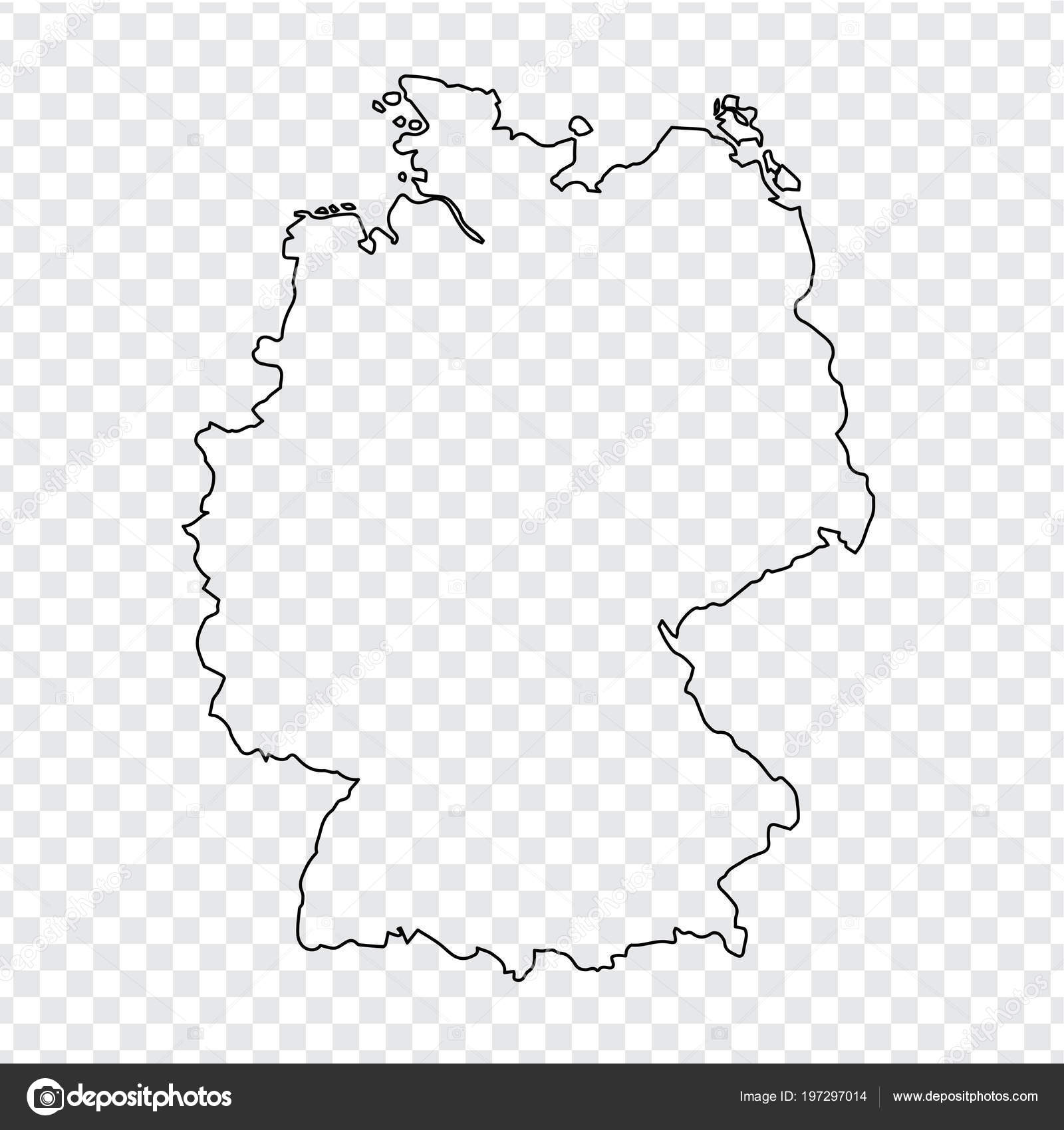 Blank Map Germany Thin Line Germany Map Transparent Background