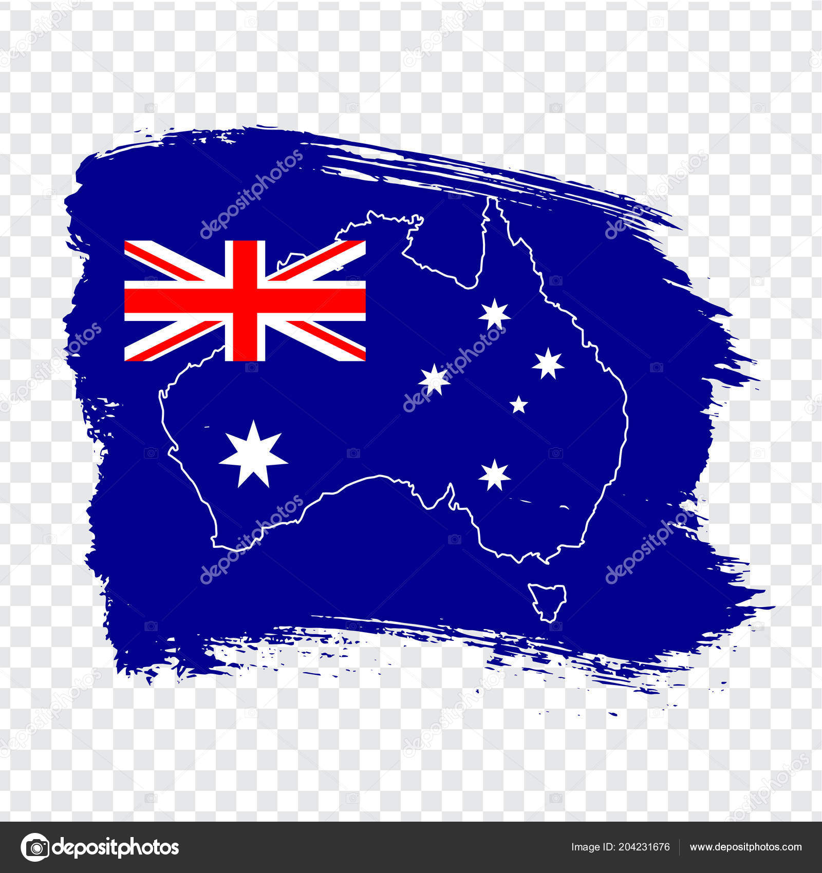 Australia Map Transparent.Flag Australia Brush Strokes Blank Map Australia High Quality Map