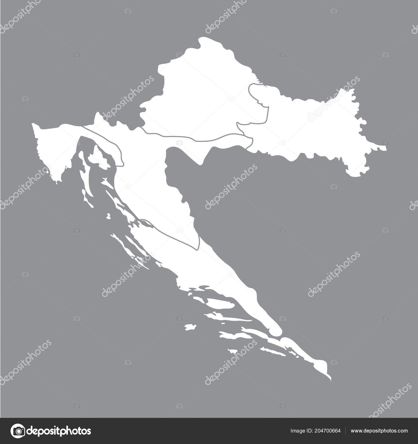 Cartina Muta Della Croazia.Blank Map Croatia High Quality Map Croatia Gray Background Map Vector Image By C Karinanh Vector Stock 204700664