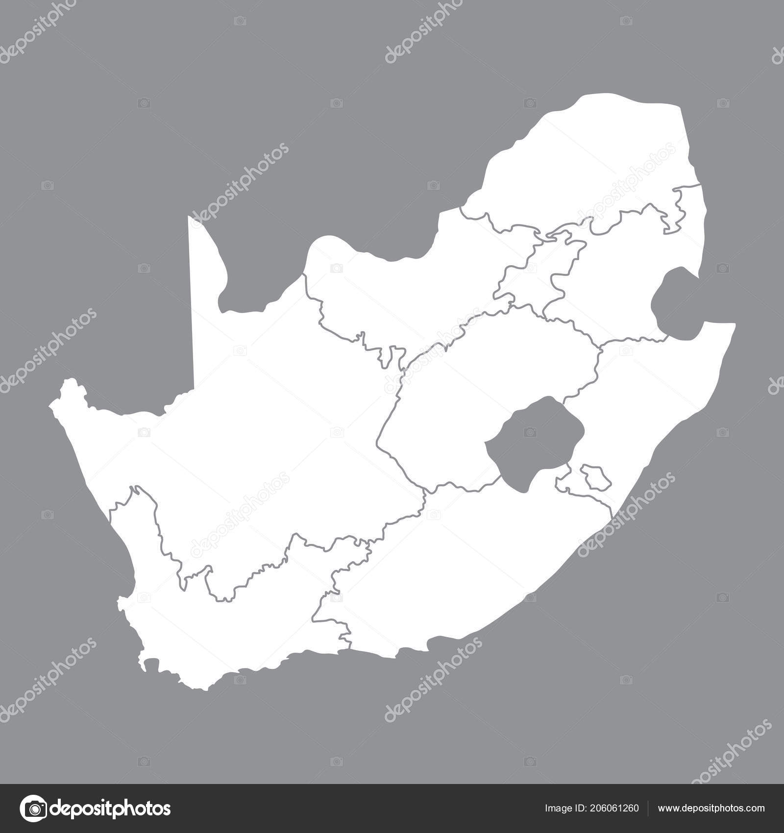 Blank map of south africa | Blank map South Africa. High ...