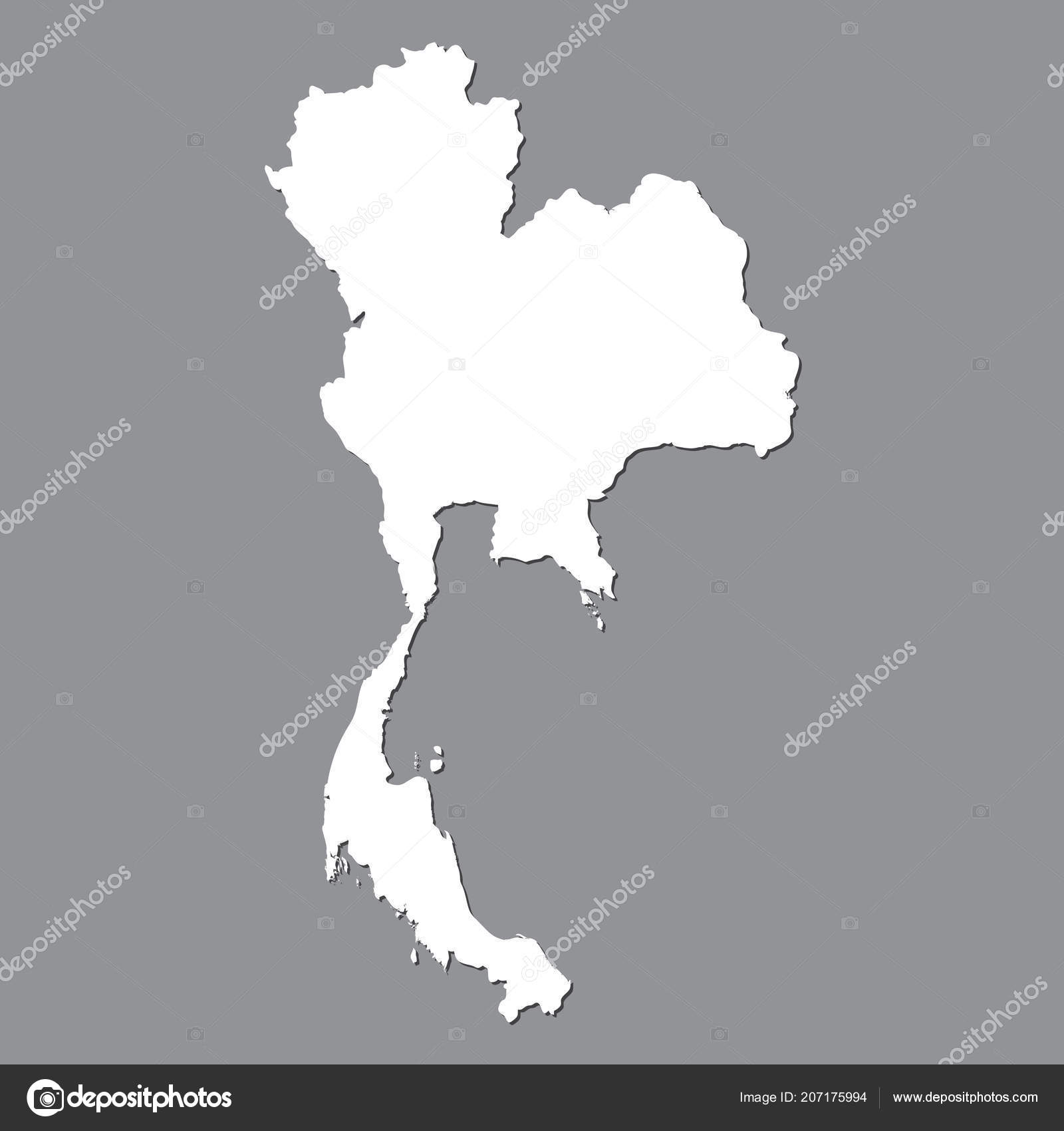 Blank Map Thailand High Quality Map Thailand Gray Background ...