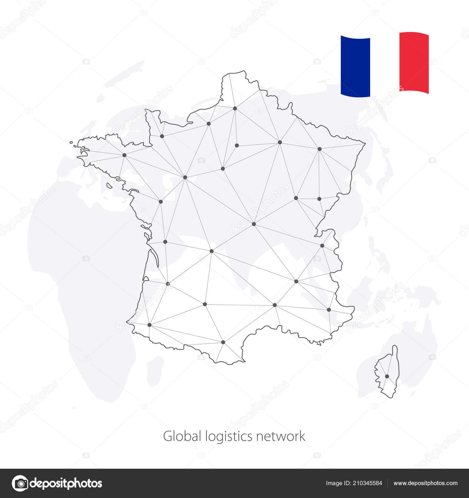 Global Logistics Network Concept Communications Network Map ...
