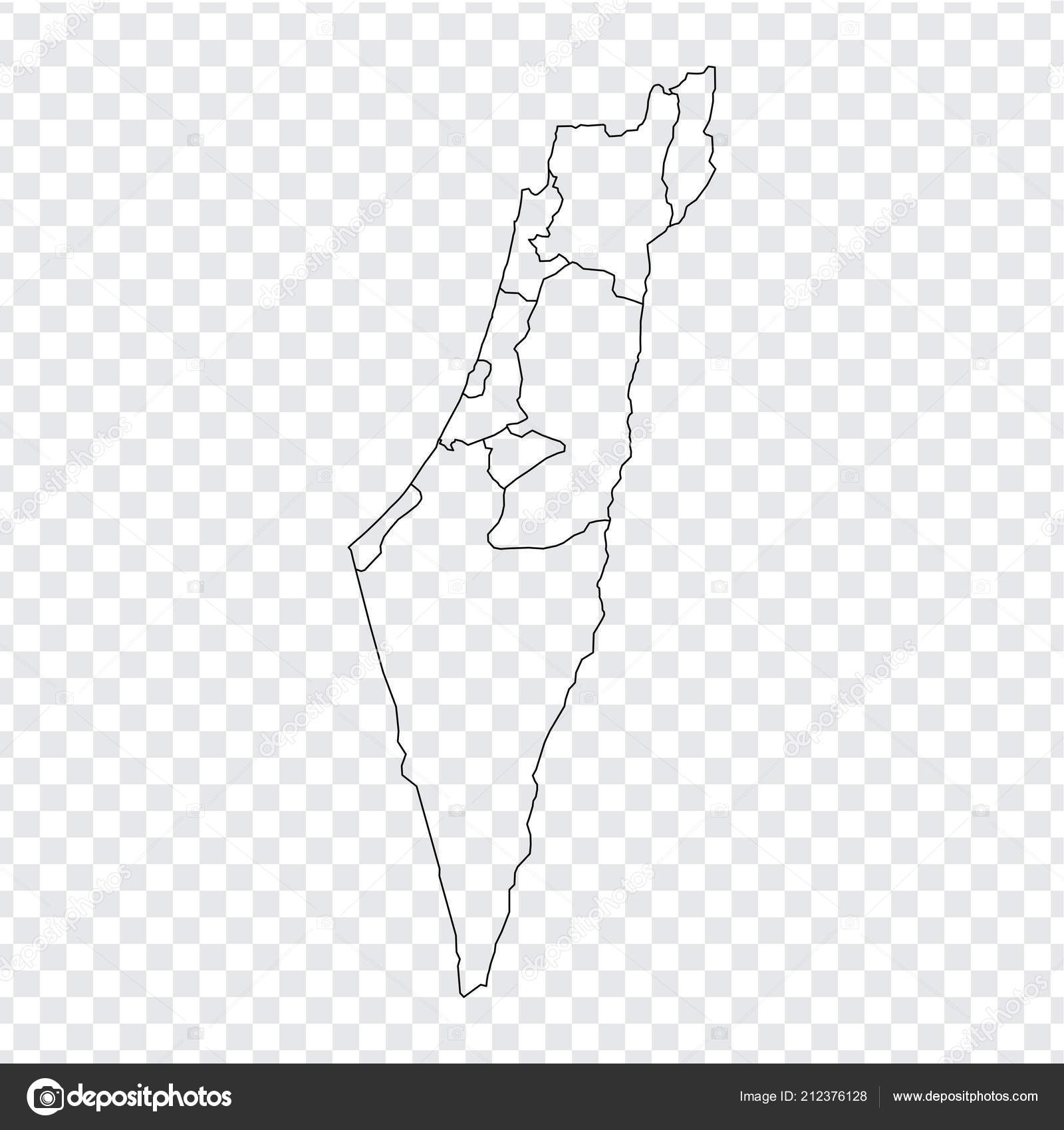 Picture of: Israel Map Blank Blank Map Israel High Quality Map Israel Provinces Transparent Background Stock Vector C Karinanh 212376128