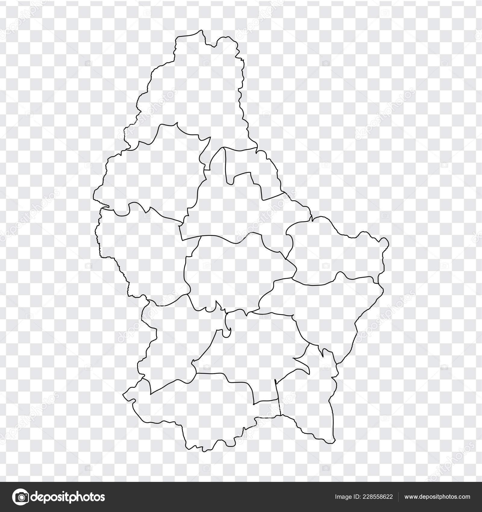 Leere Karte Luxemburg Hochwertige Karte Luxemburg Mit ...