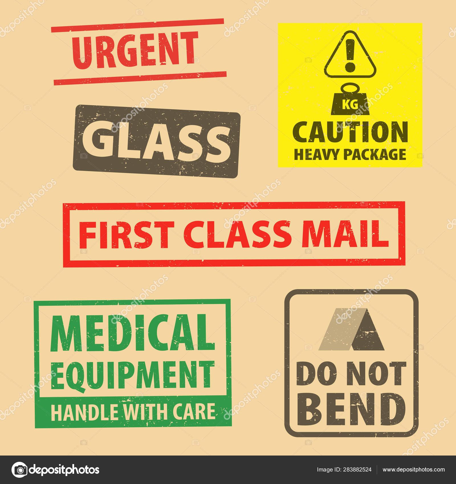 set of fragile sticker caution heavy package and do not bend icon packaging symbols sign fragile set of fragile sticker caution heavy package and do not bend icon packaging symbols sign fragile