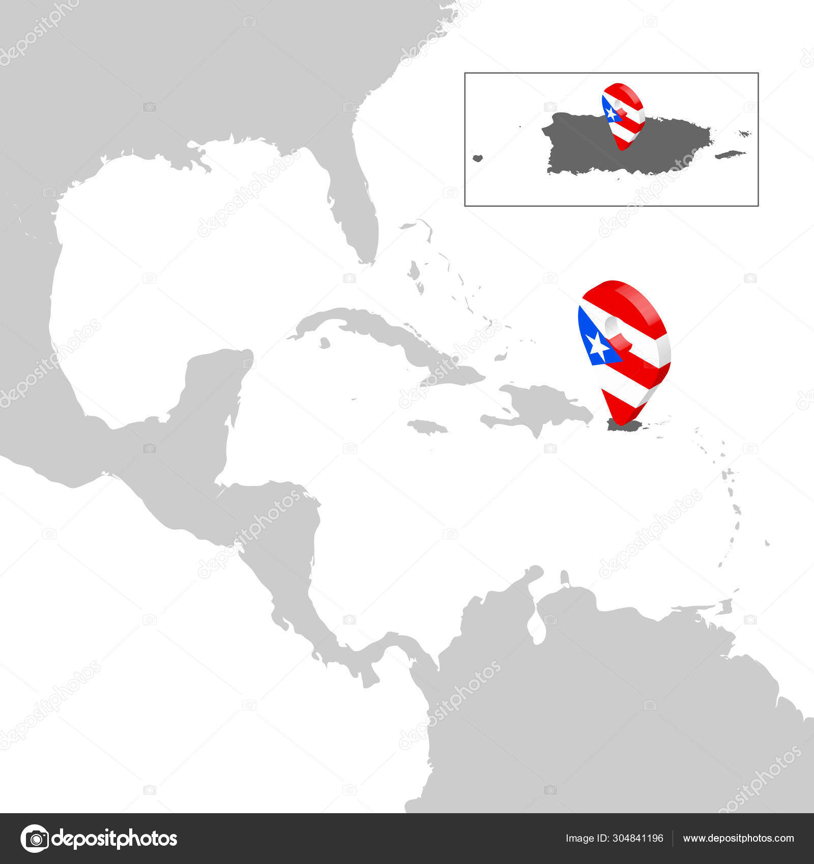Location Map HondurasPuerto Rico on map Central America. 3d ...