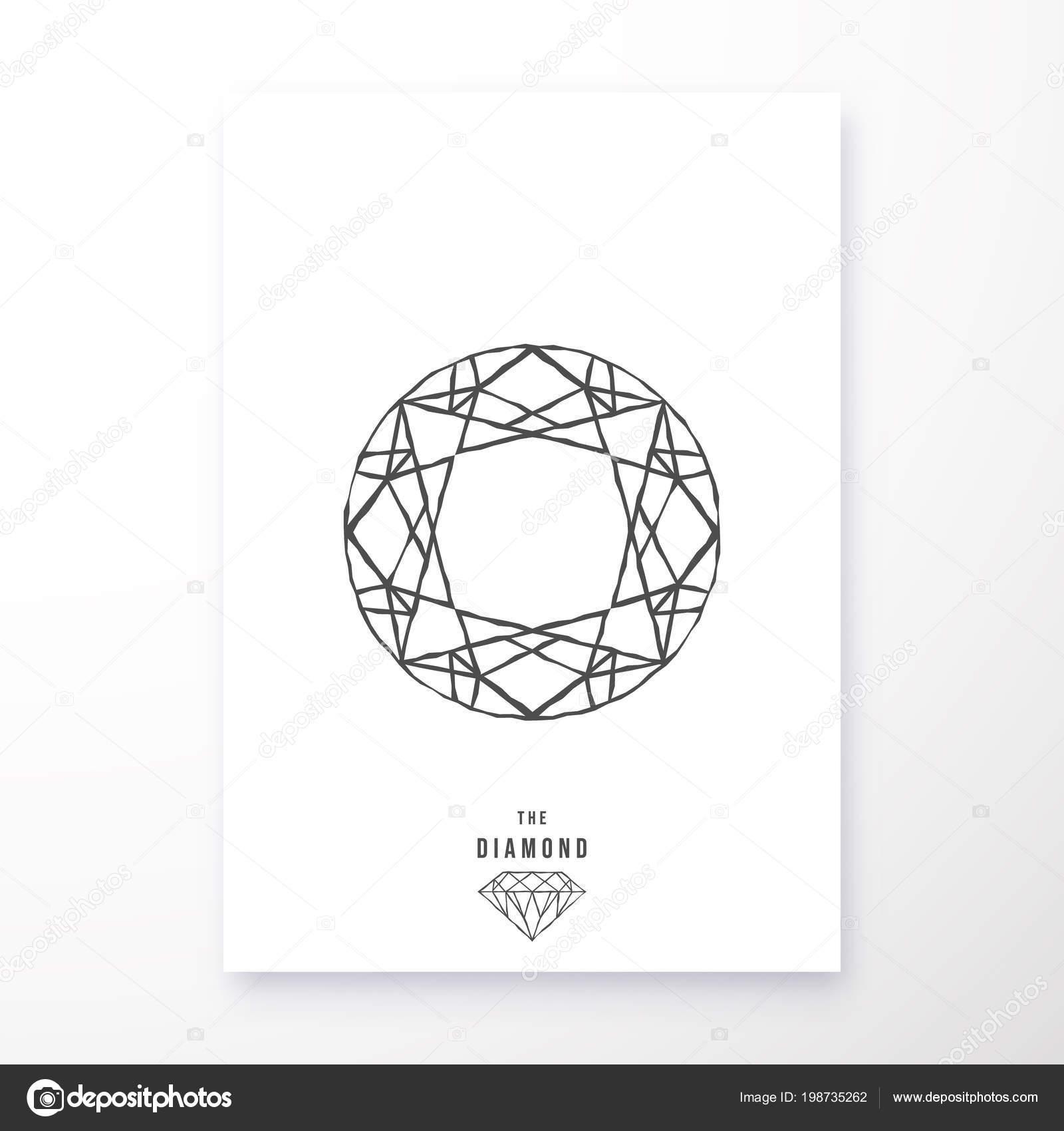 Diament Plakat Geometryczny Wzór Druku Produktów Ulotki