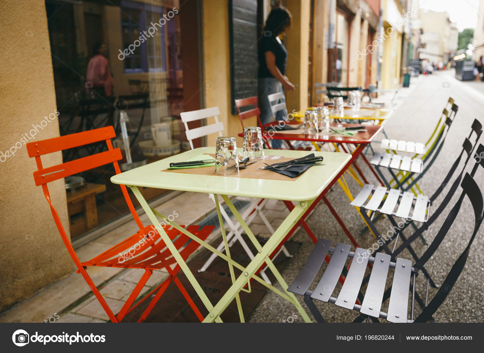 Theme Cafes Restaurants Exterior Summer Terrace Bright Colors Street Cafe Stock Photo C Veloliza 196820244