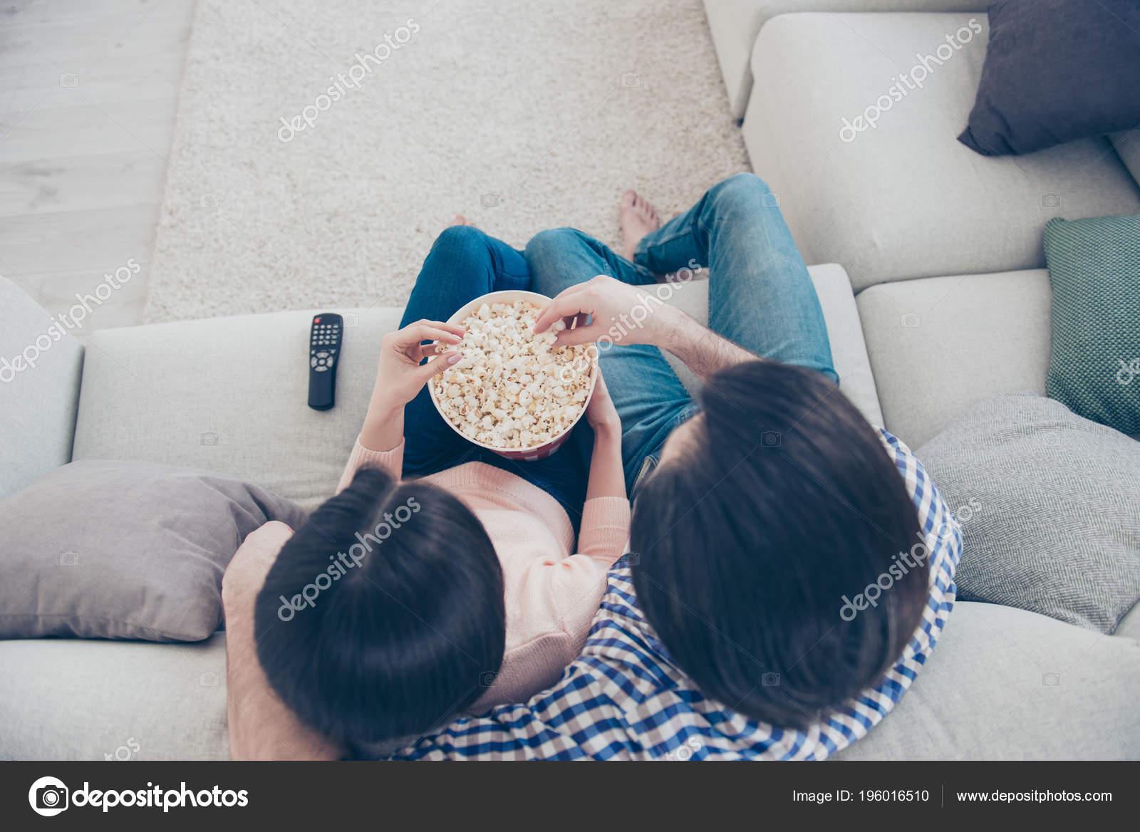 Salotto Di Romantica.Ritratto Vista Superiore Della Romantica Coppia Trendy