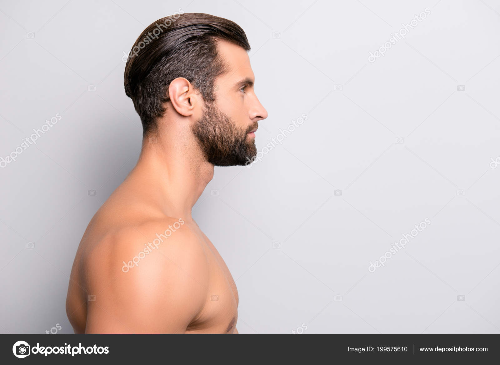 Nude profile side