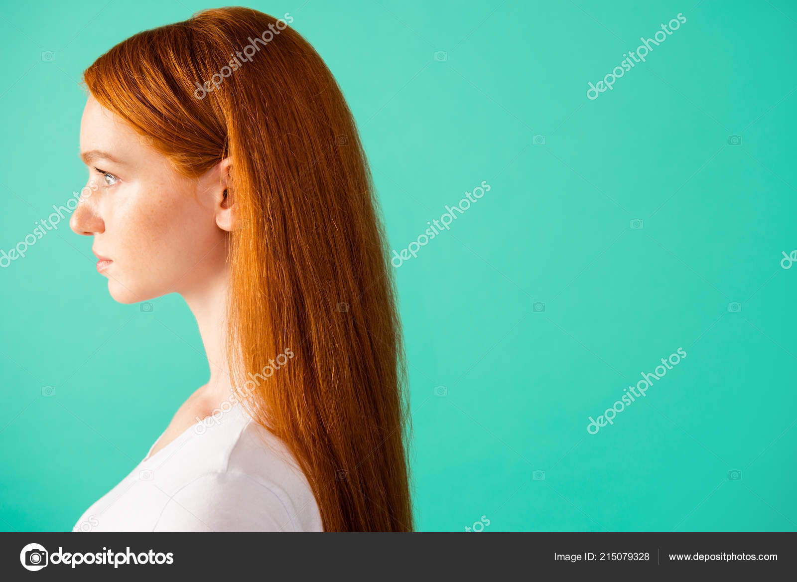 Profile Side View Of Nice Peaceful Calm Content Cute Attractive Stock Photo C Deagreez1 215079328