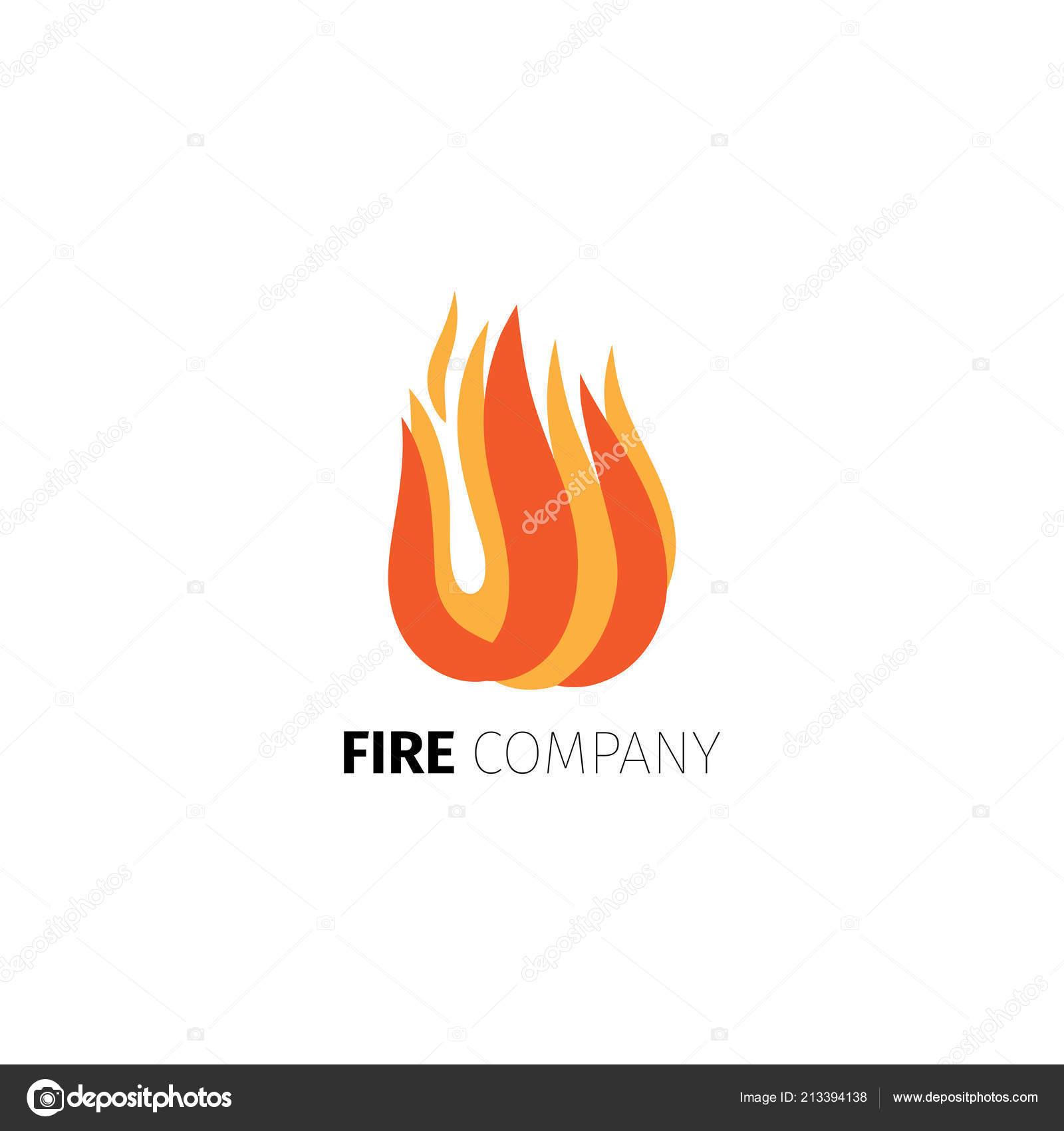 fire flame company logo template stock vector ssstocker 213394138