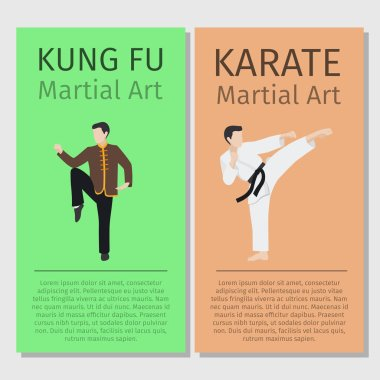 Martial arts Kung fu, Karate flyers