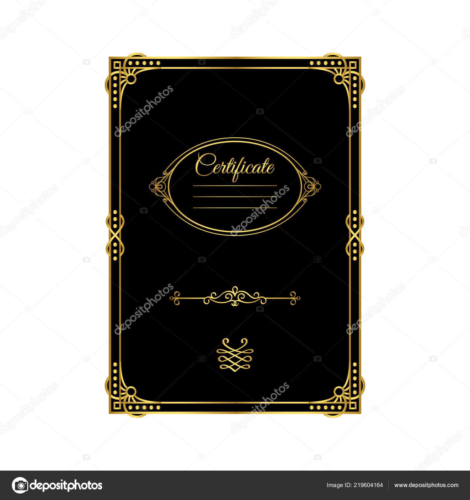 Vintage Golden Frame Certificate Template