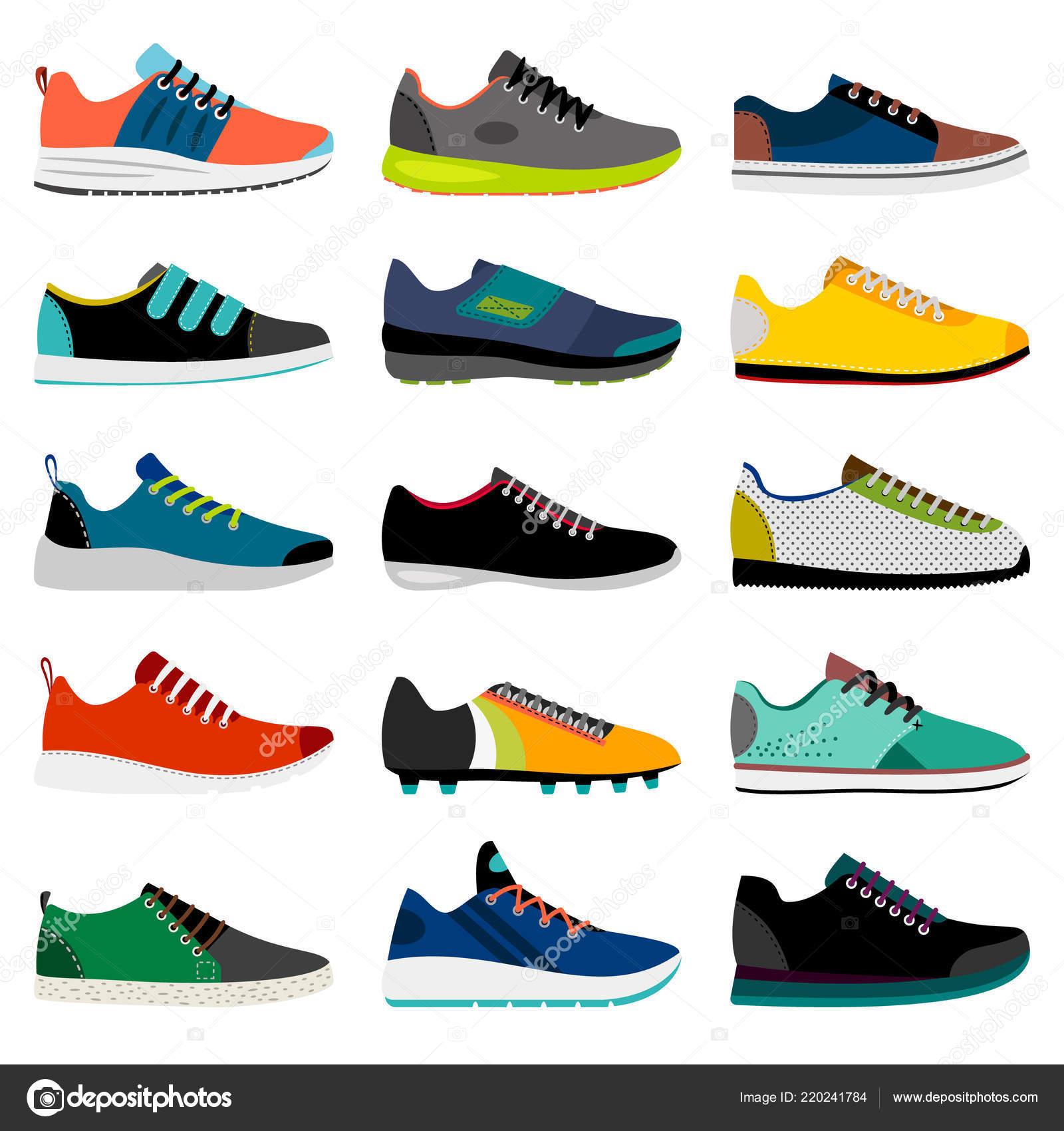 Stock Zapatos Deporte La Colección Zapatilla Vector De — Yfg7vb6Iy