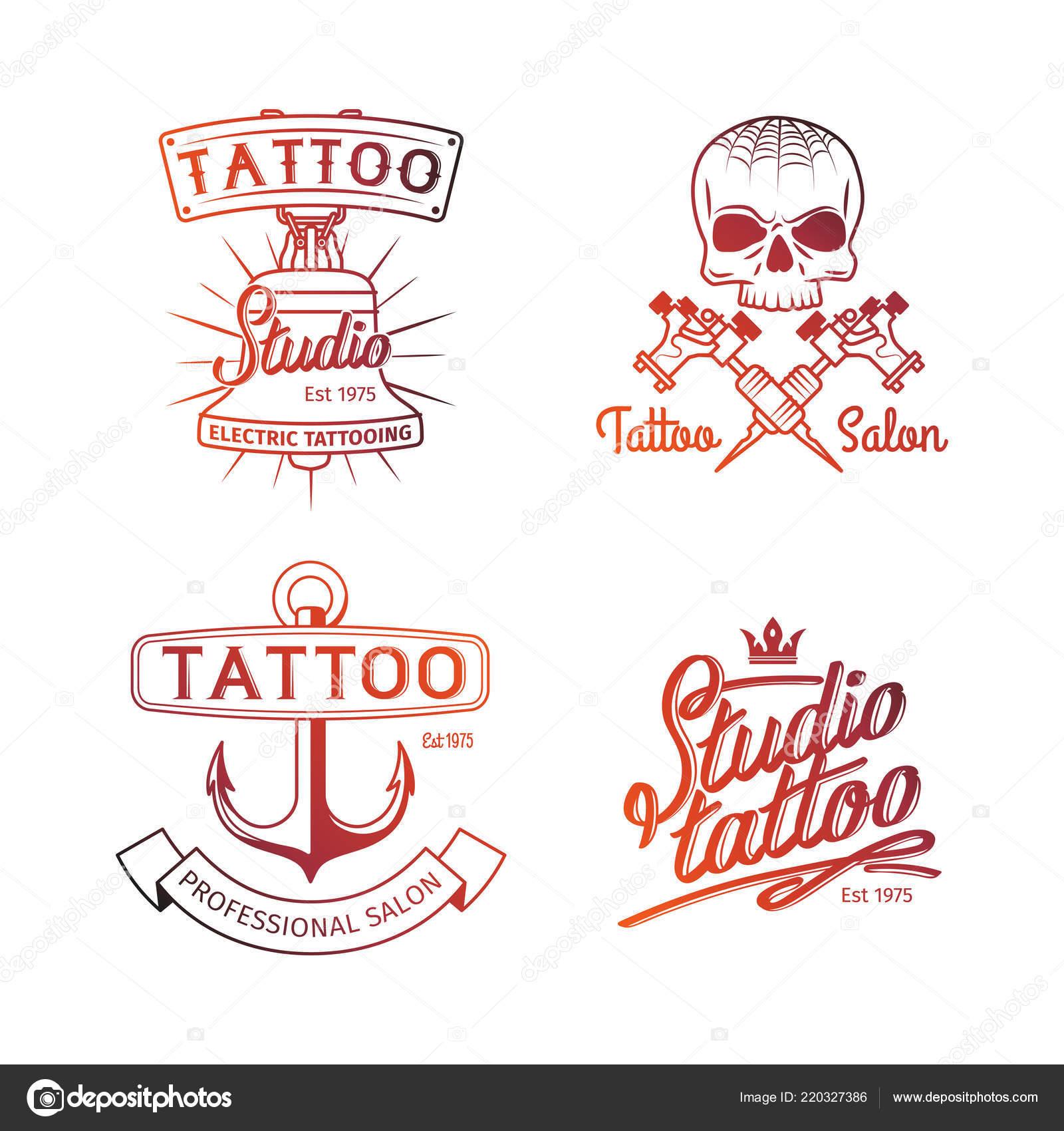 Logo De Estudio De Tatuaje Logos Colores Para Las Plantillas De