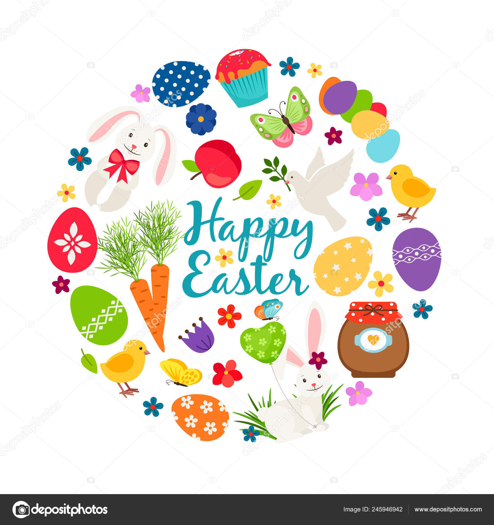 picture relating to Happy Easter Banner Printable titled Cartoon spring pleased easter printable vector banner with