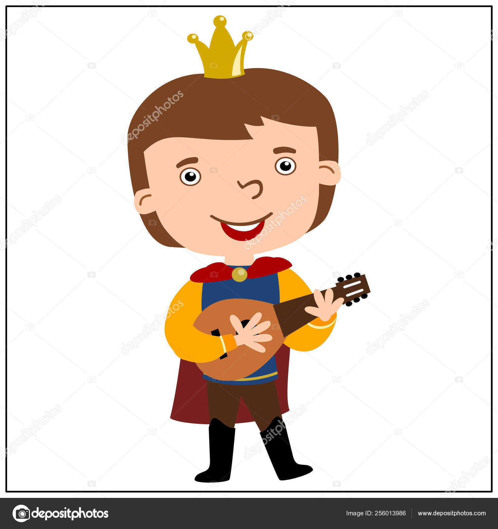 Cartoon Character Funny Prince Crown Head Playing Lute Isolated White Stock Vector C Dmitriy D 256013986 Caps by tag «cartoon characters» — dmitry dalimov's crown caps collection. cartoon character funny prince crown head playing lute isolated white stock vector c dmitriy d 256013986