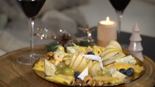 Festive table with cheese mix