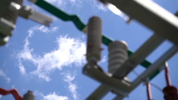 Trasformatore in una centrale solare