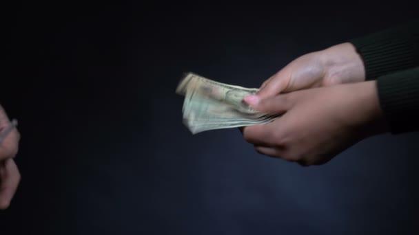 Drug dealer sells drugs to a girl