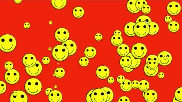 4 k emotikonu animace, žlutý úsměv tvář.