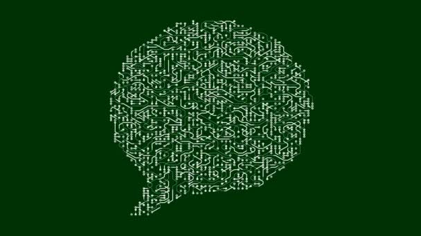 4 k desce elektrony ve tvaru mluvit symbolu, elektronické spojení, globální internetové sociální média znamení.