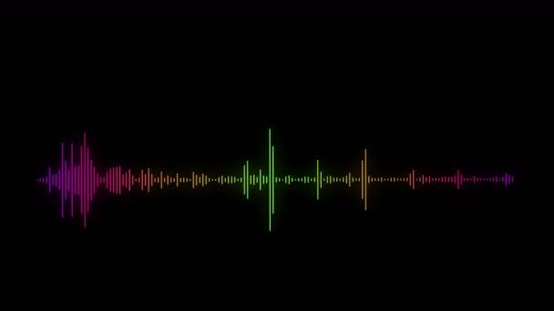 4 k musica ritmo testandone, equalizzatore audio, uso di simulazione bagliore spettro audio per musica e computer calcolo.