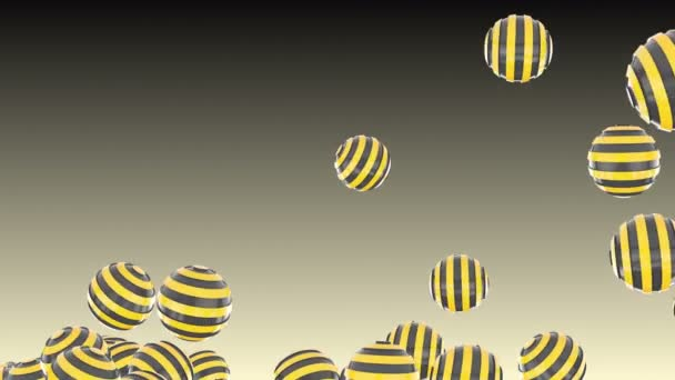 4k Abstract 3d ball stripes sphere space bead jewelry pearl particle design candy sugar toy art background.