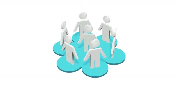 4k human icons,business teamwork,Social or Business Network,a group of people in a social group,white background.