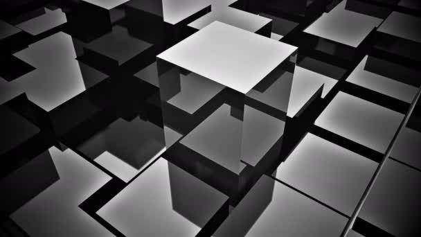 4k, abstrakte 3D-Metallwürfel Animation Hintergrund.
