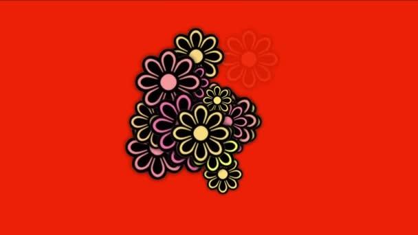 4 k divoké daisy okvětní plátky, jarní rostliny kvetou, romance lásky svatba pozadí.