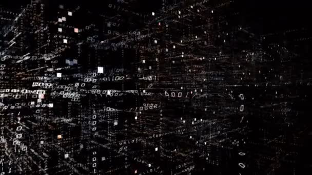 4k Matrix Style Binary Computer Code Shape Crisprchanging From Zero