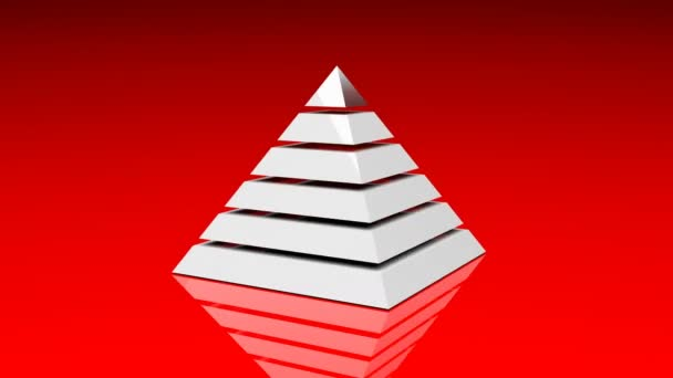 4k Pyramid triangle geometry design element abstract object mystery background.