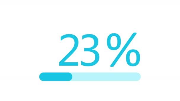4k, berakodás átvitel Letöltés animáció 0 és 100 százalék növekszik, haladás bar.download,