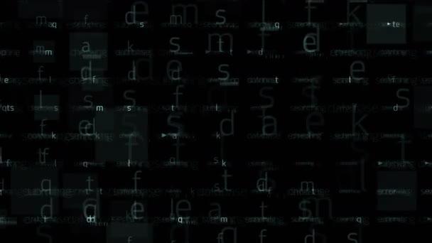 4k alphabet character matrix background,input search letter,Big data storage.