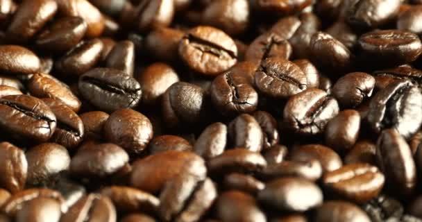 4 k Kaffeebohnen Closeup, Getränke Koffein Lebensmittel-Rohstoff, köstliche Gerichte Bohne