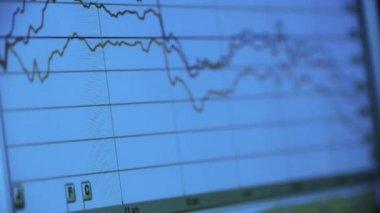 e0b410a44 Pesquisa Gráfico Ondulado Dados Negócios Computador Mostrar Financeira  Estoque Digital — Vídeo de Stock