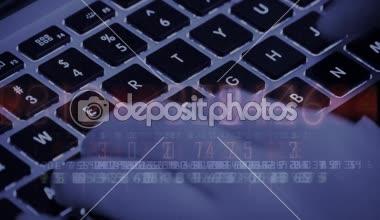 75398eeb6 Escrevendo Código Computador Digitação Portátil Teclado Operador  Informática ...