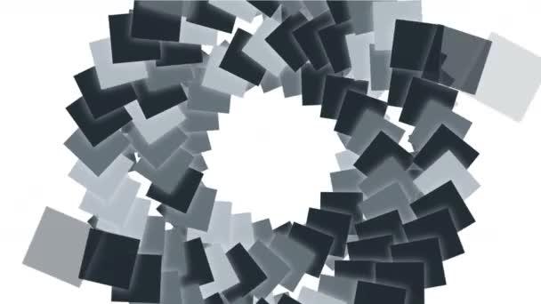 4k točité schodiště pozadí žebříku, zablokování částic papíru z obdélníkových karet.