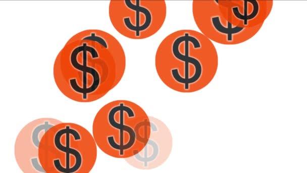 4k Float USA dollars money wealth sign symbol.