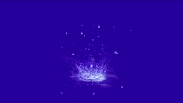 4 k Waterdrop zvlnění úvodní gejzír, jarní vody tekuté kapky částice.