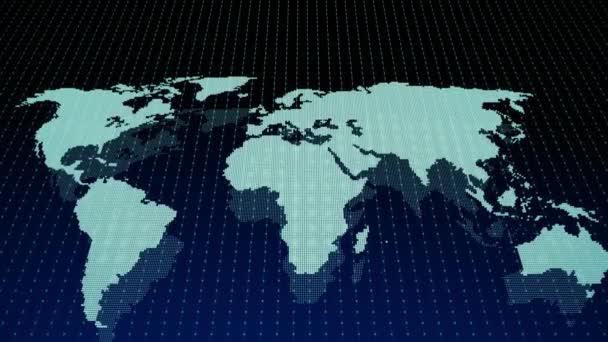 4k World map dos concept, Digital marketing business background.