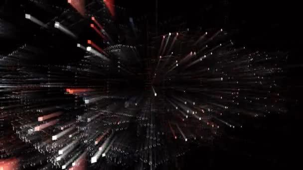 4k TAX CUTS word,Matrix binary computer code text design animation.