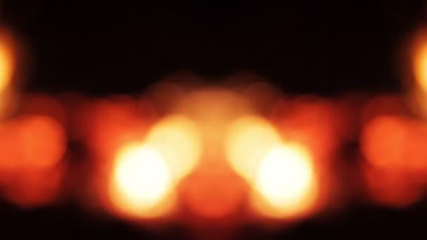 Tűz defocus tükör, narancssárga bokeh