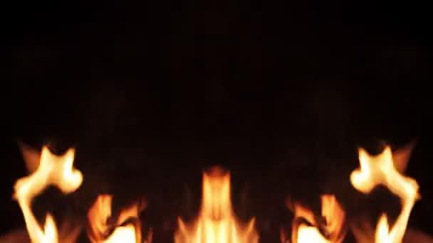 Specchio colonne di fuoco sui telai i lati